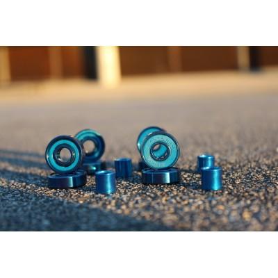 Rodamientos BLURS Titanium Blue caja metalica