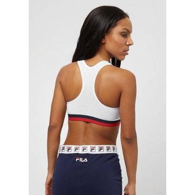 Top FILA Urban Woman patente banda bicolor blanco