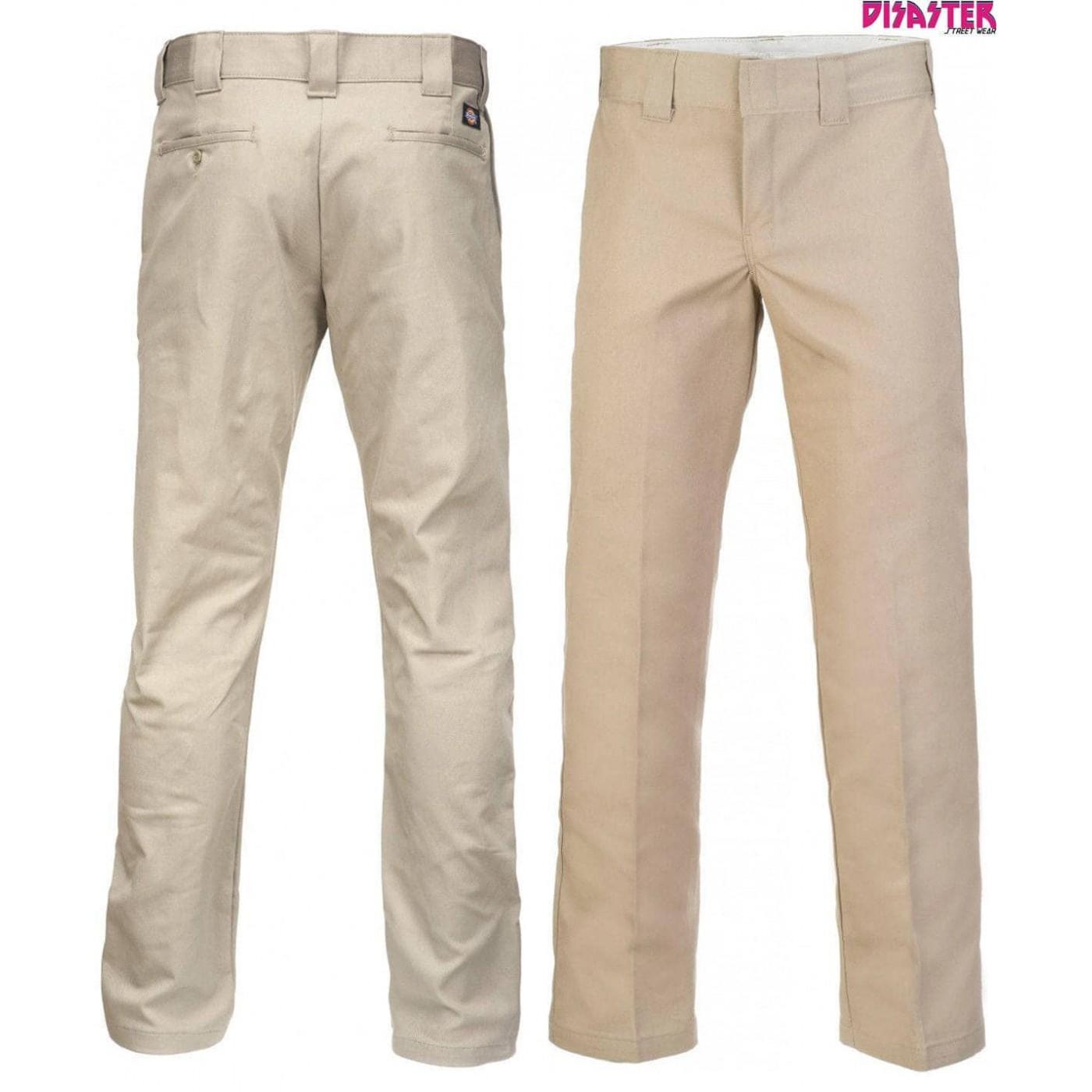 Pantalones Dickies 873 Slim Straight Leg Work Pant Khaki Ropa De Hombre Dickies Wp873kh