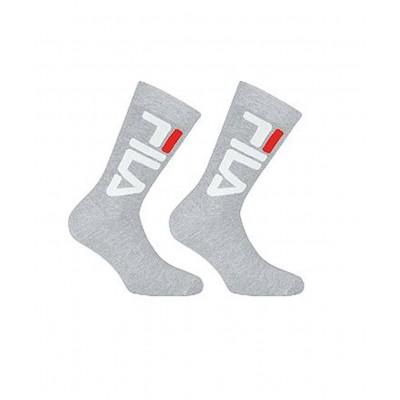 Calcetines FILA Socks Pack 2 Unisex crew grises