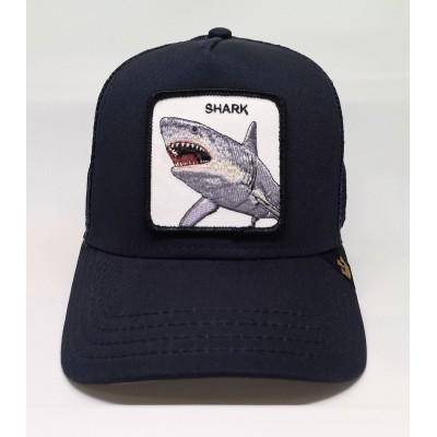Gorra Goorin Bros Tiburón SHARK azul oscuro navy blue