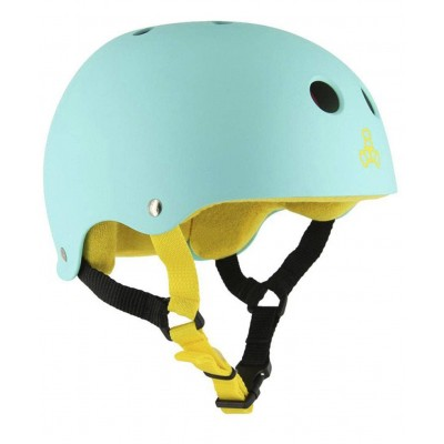 Casco Triple Eight Sweatsaver Baja Teal Rubber Turquesa