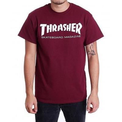 Camiseta Thrasher Skate Magazine Rojo Maroon
