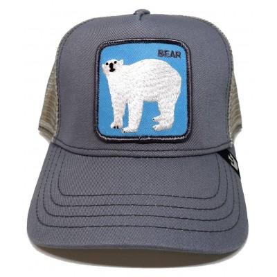 Gorra Goorin Bros Trucker Oso Polar Bear Gris