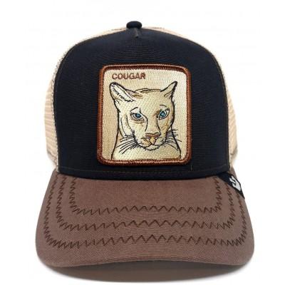 Gorra Goorin Bros Trucker Puma Cougar Negro-Marrón