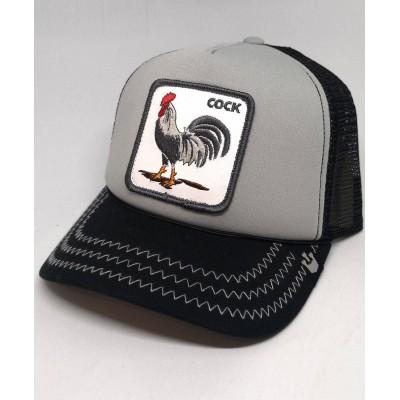 Gorra Goorin Bros Trucker Gallo Cock Gris