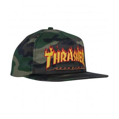 Gorra Thrasher Strapback Flame Logo Camo