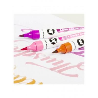 Pack 12 rotuladores Molotow Acuarelables Aqua Color Brush...