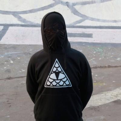 Sudadera Reptilians Logo Pirámide Negro Black