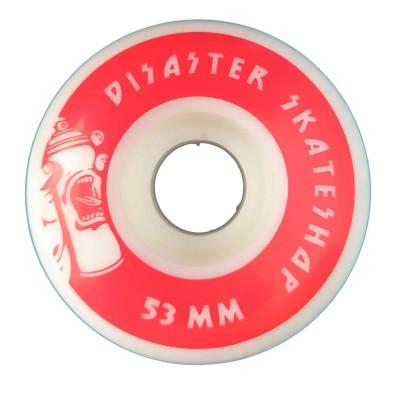 Ruedas Disaster 53mm Plana Roja Red