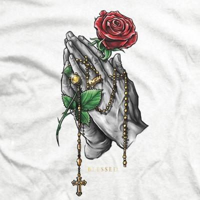 Camiseta DGK Tee Rosary White-White