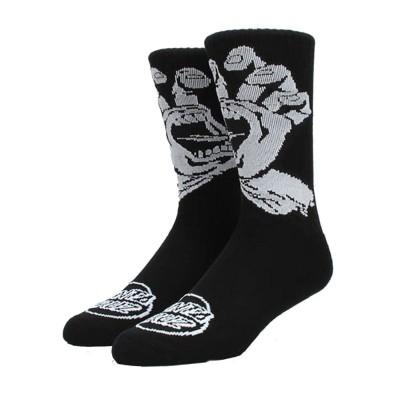 Calcetines Santa Cruz Socks Screaming Hand Mono Black-Black
