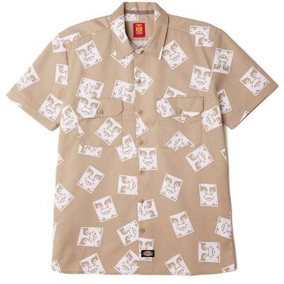 Camisa OBEY x DICKIES Oby3 Ws576 Work Shirt Khaki