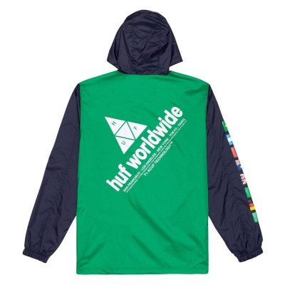 Chaqueta HUF Flags Anorak Jacket French Navy