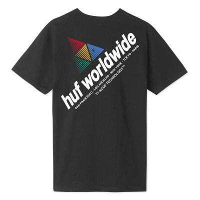Camiseta HUF Peak Sportif S-S Tee Black