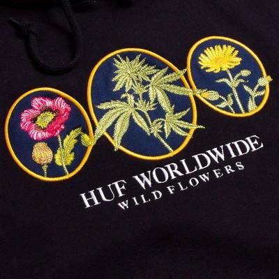 Sudadera HUF Wild Flowers 2 P-O Hoodie Black