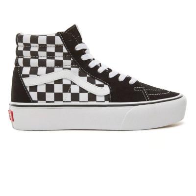 Zapatilas Sk8-Hi Plataforma Checkerboard-True white