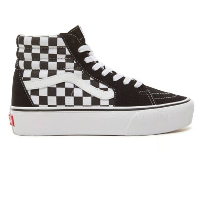 Zapatilas Vans Sk8-Hi Plataforma Checkerboard-True white