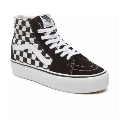 borde Popa Hacer bien  Zapatilas Vans Sk8-Hi Plataforma Checkerboard-True white Calzado Vans  VN0A3TKNQXH