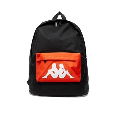 Mochila Kappa Bastil Auth backpack negra naranja...