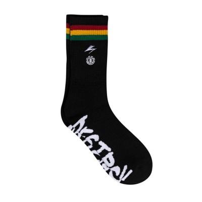 Calcetines Element x Bad Brains Striped Socks Flint Black