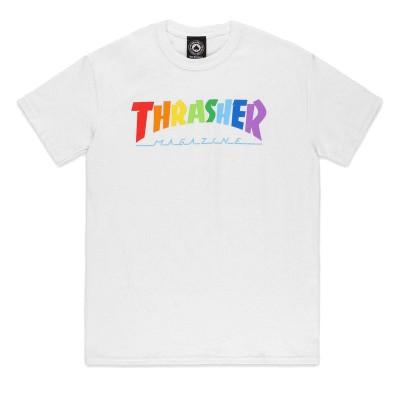 Camiseta Thrasher Rainbow Mag White