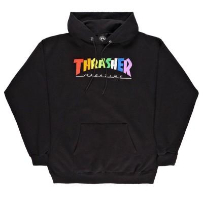 Sudadera Thrasher Rainbow Mag Hood Black