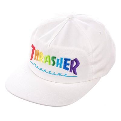 Gorra Thrasher Rainbow Mag Snapback White