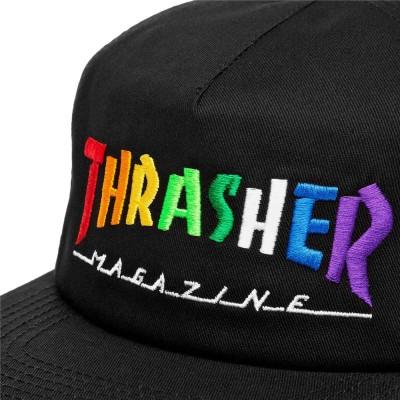 Gorra Thrasher Rainbow Mag Snapback Black