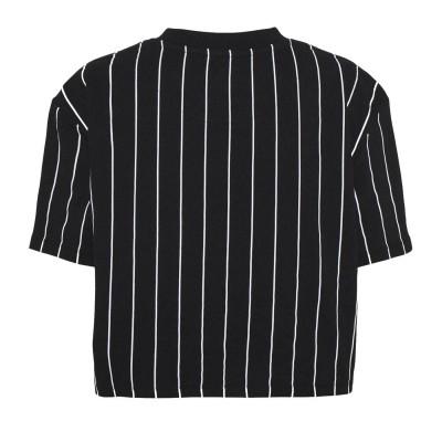 Camiseta crop top  Karl Kani Signature Pinstripe Negro Black