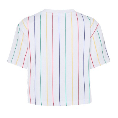 Camiseta crop top  Karl Kani Signature Pinstripe Blanco...