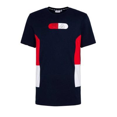 Camisetas FILA Jalen Blocked Tee True Red Black