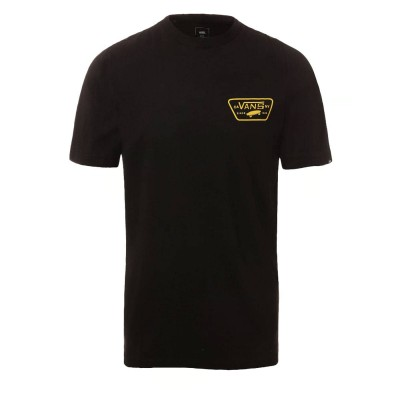 Camiseta Vans Mn Full Patch Back Ss Black-Saffron