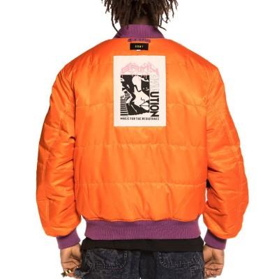 Chaqueta Bomber Grimey Liveution Reversible Purple-Orange
