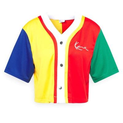 Camiseta beisbolera crop top mujer Karl Kani Small...