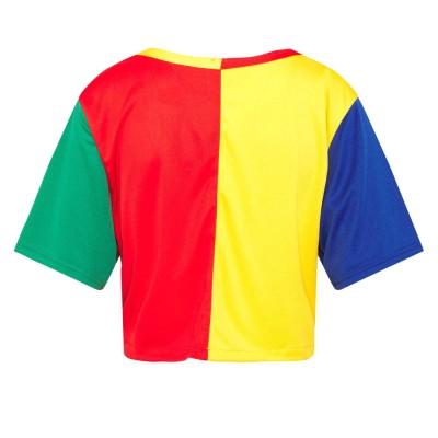 Camiseta beisbolera crop top mujer Karl Kani 6135036...