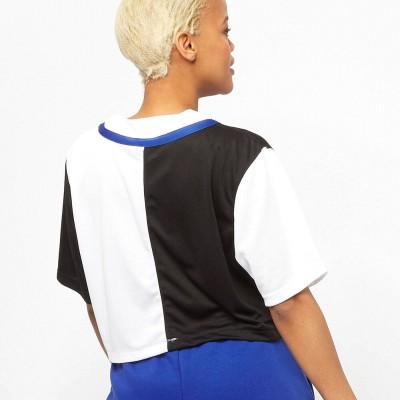 Camiseta beisbolera crop top mujer Karl Kani 6135037...