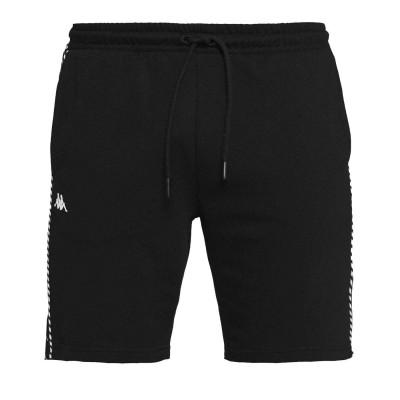 Pantalón corto Kappa 222 Banda Eftor negro black-white-black
