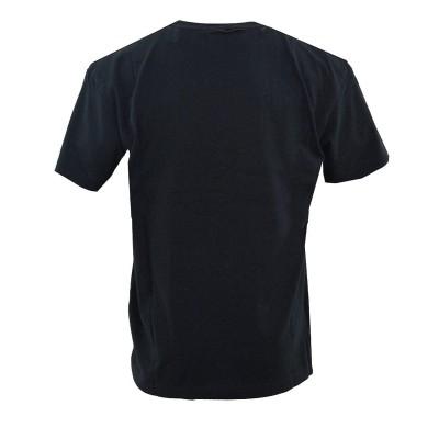 Camiseta Kappa 222 Banda Ecop negra black-white-black