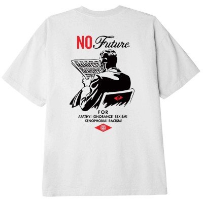 Camiseta OBEY No Future blanca white