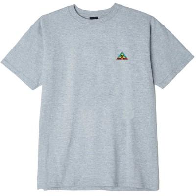 Camiseta OBEY Trinity gris heathers grey