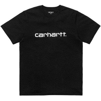 Camiseta Carhartt S-S Script T-Shirt White - Black