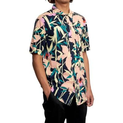 Camisa RVCA Bamboo Floral Ss Navy Marine