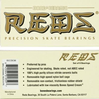 Rodamientos Bones Ceramic Reds 8 pack