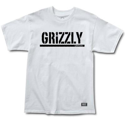 Camiseta Grizzly Stamp White