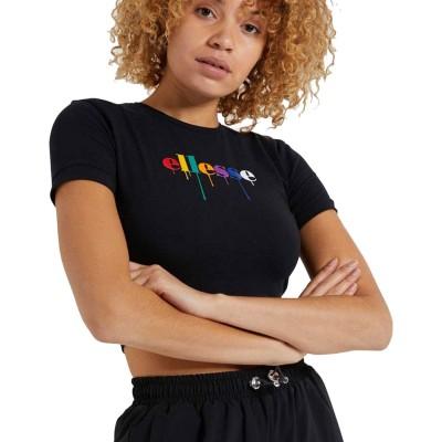 Camiseta crop top Ellesse Romancia Crop T-Shirt Black