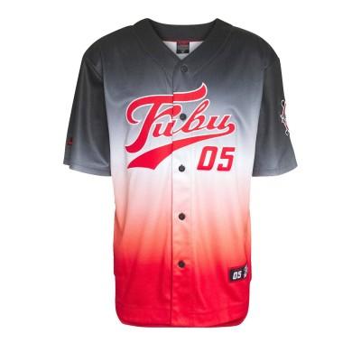 Beisbolera Fubu Varsity Baseball Jersey Gradient Black...