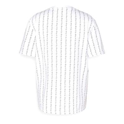 Camiseta Karl Kani Signature Logo Pinstripe Blanco White