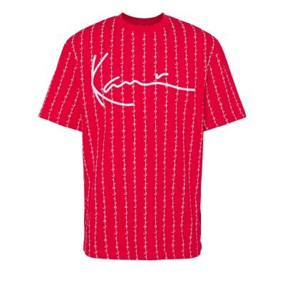 Camiseta Karl Kani Signature Logo Pinstripe Rojo Red