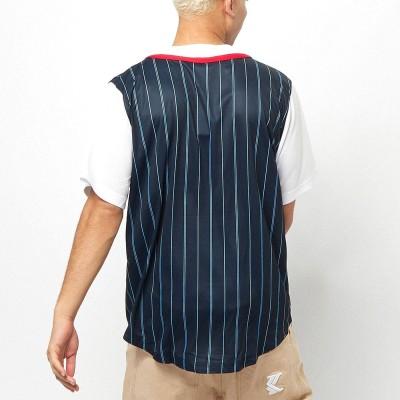Camiseta beisbolera Karl Kani 6035462 Azul Marino Navy